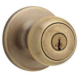 Weiser Fairfax Antique Brass Entry Knob