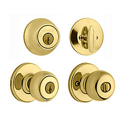 Fairfax Entry Handle Set in Polished Brass