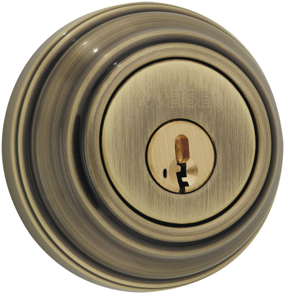 9471 Antique Brass Single Cylinder Deadbolt