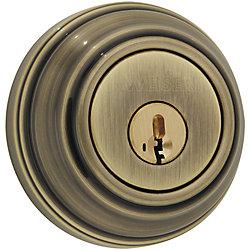 Weiser Collections Single Cylinder Deadbolt Antique Brass