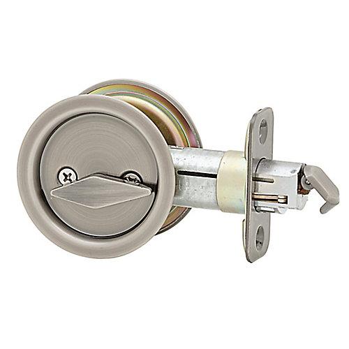 1031 Antique Nickel Round Pocket Door Privacy Lock