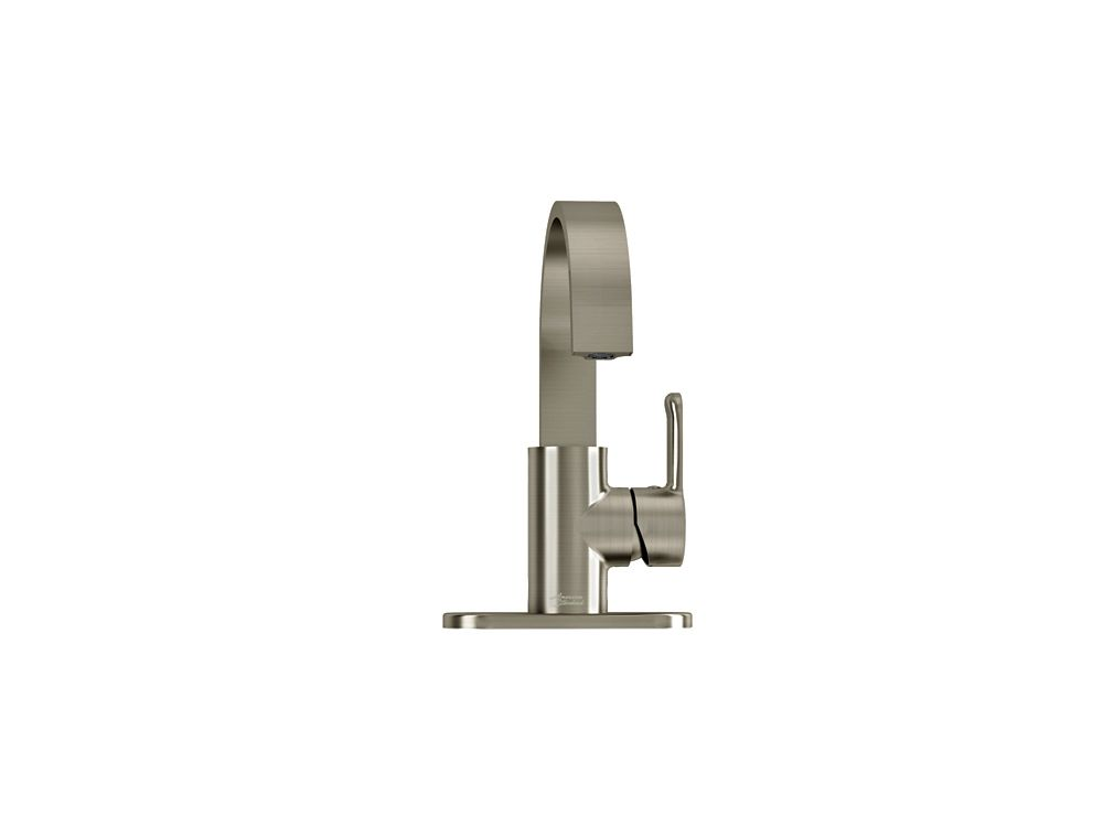 Lycos Monoblock Bathroom Faucet in Satin Nickel Finish
