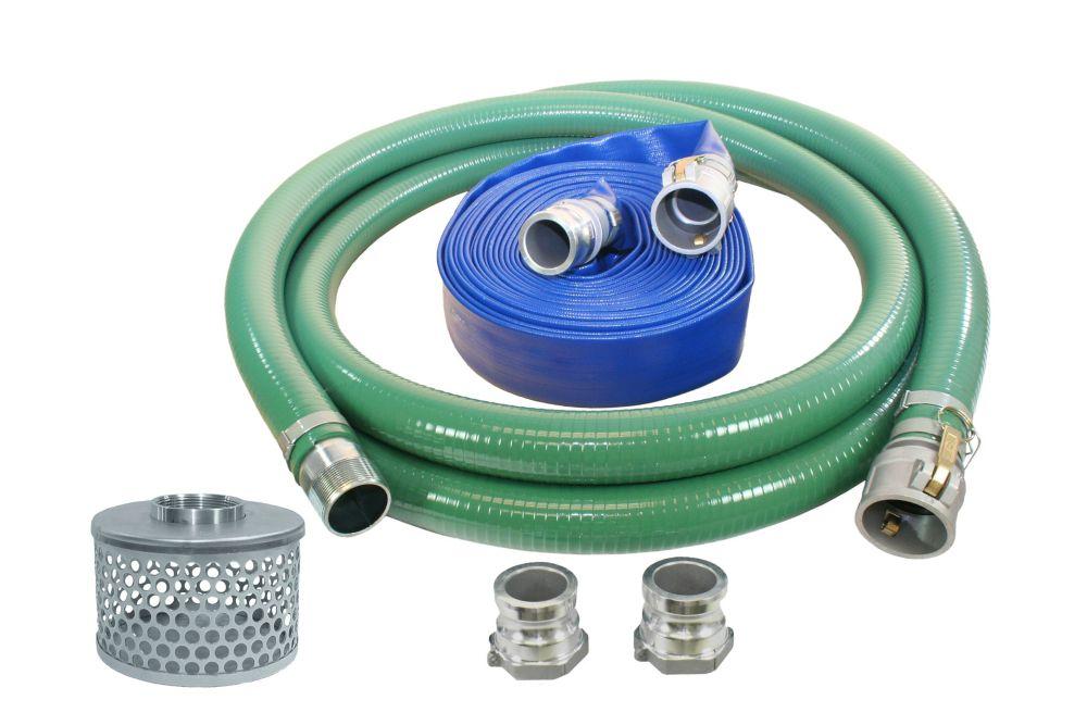 Three inch water pump hose kit