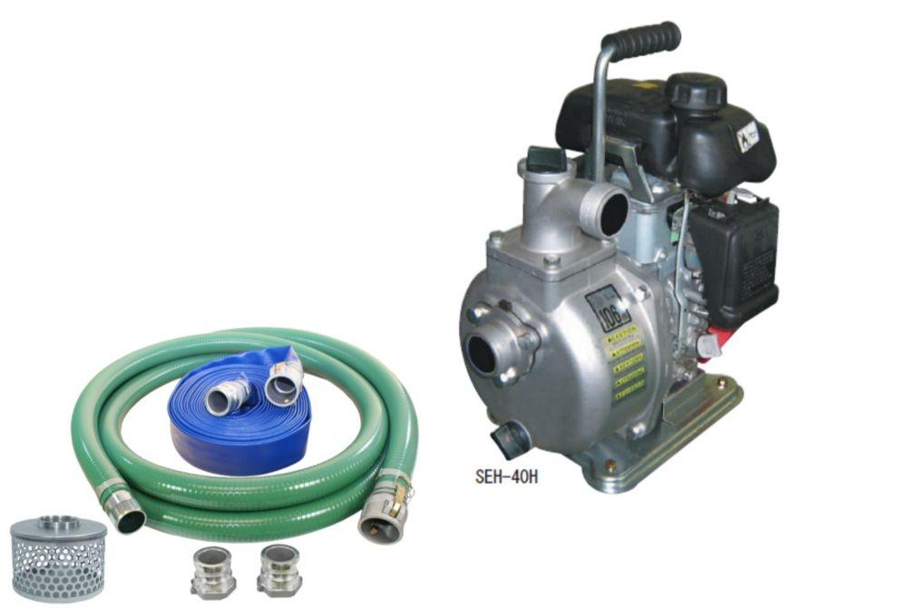 Pompe centrifuge koshin seh-40h avec un kit de tuyau pour pompe à eau de 1 pouce et demi