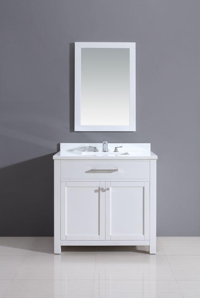 34 Inch Bathroom Vanity: Jade Bath Courtyard Rialto White Vanity 36 Inch X 34.5