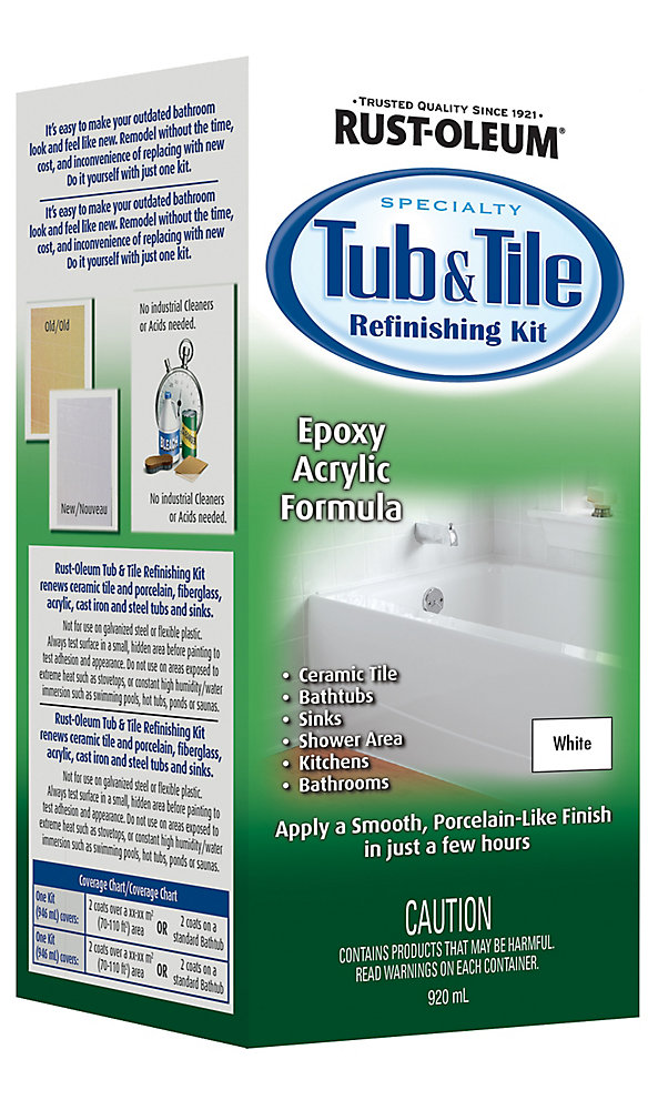 Miraculous Tub Tile Refinishing Kit In Gloss White 920 Ml Download Free Architecture Designs Ferenbritishbridgeorg