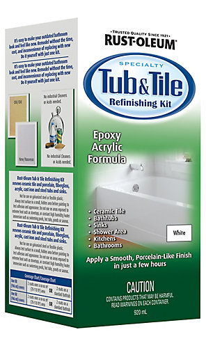 Rust-Oleum Rust-Oleum Tub And Tile Refinishing Kit | The Home Depot ...