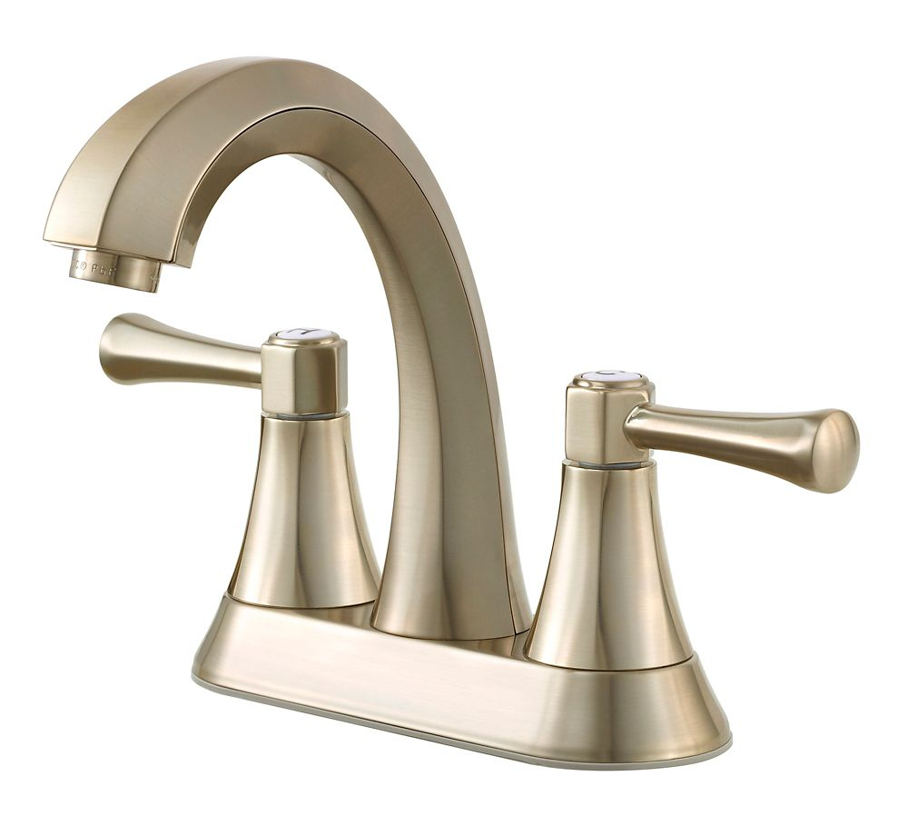 Alta Centerset (4-inch) 2-Handle High Arc Bathroom Faucet in Brushed Nickel with Lever Handles