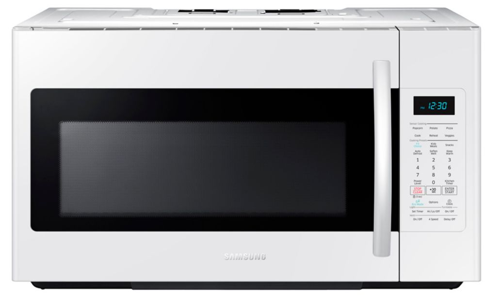 1.8 cu. ft. Over-the-Range Microwave Hood Combo with Ceramic Cavity in White