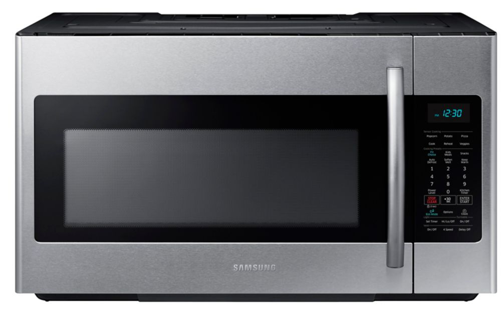 1.8 cu. ft. Over-the-Range Microwave Hood Combo with Ceramic Cavity in Stainless Steel