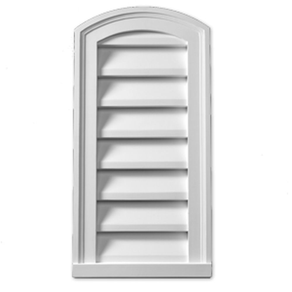 12-inch x 24-inch x 2-inch Polyurethane Functional Eyebrow Louver Gable Grill Vent