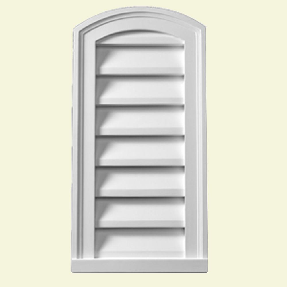 12 Inch x 24 Inch x 2 Inch Polyurethane Decorative Eyebrow Louver Gable Grill Vent EBLV12X24 in Canada