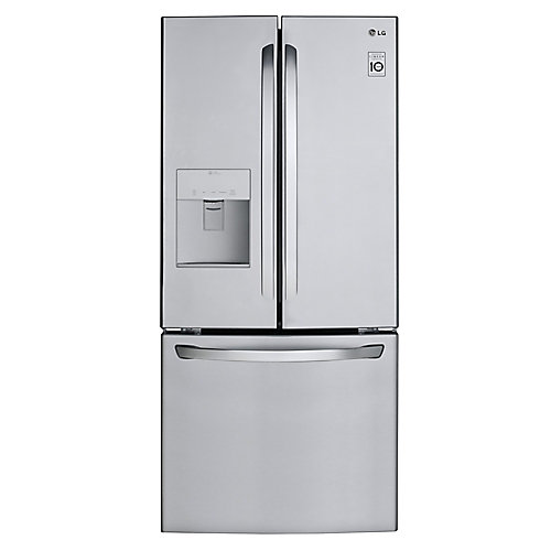 30-inch 22 cu. ft. French Door Refrigerator with Water and Ice Dispenser in Stainless Steel - ENERGY STAR®