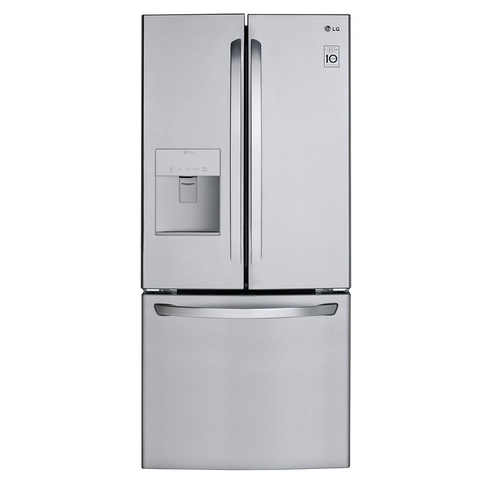 LG Electronics 30-inch 22 cu. ft. French Door Refrigerator with Water and Ice Dispenser in Stainless Steel - ENERGY STAR®