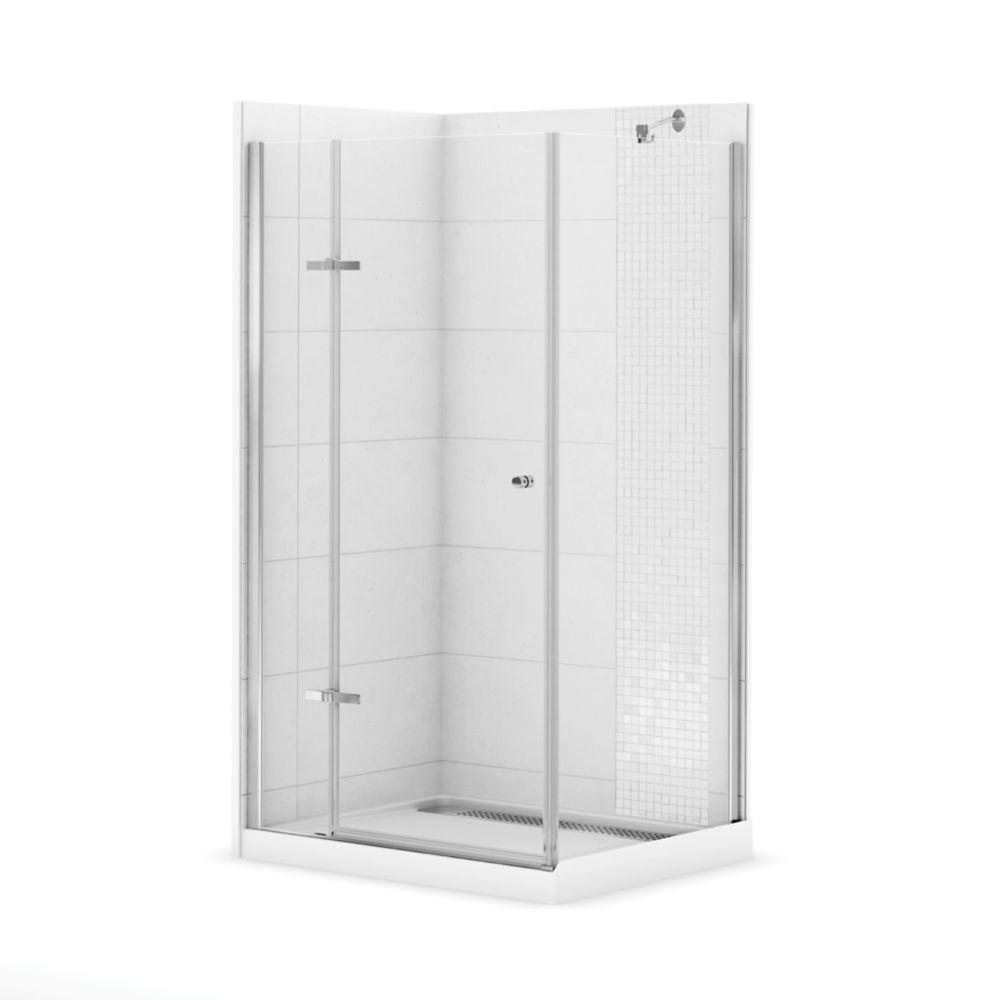 MAAX Urbano II 42 Inch X 34 Inch Corner Shower Stall The Home Depot Canada