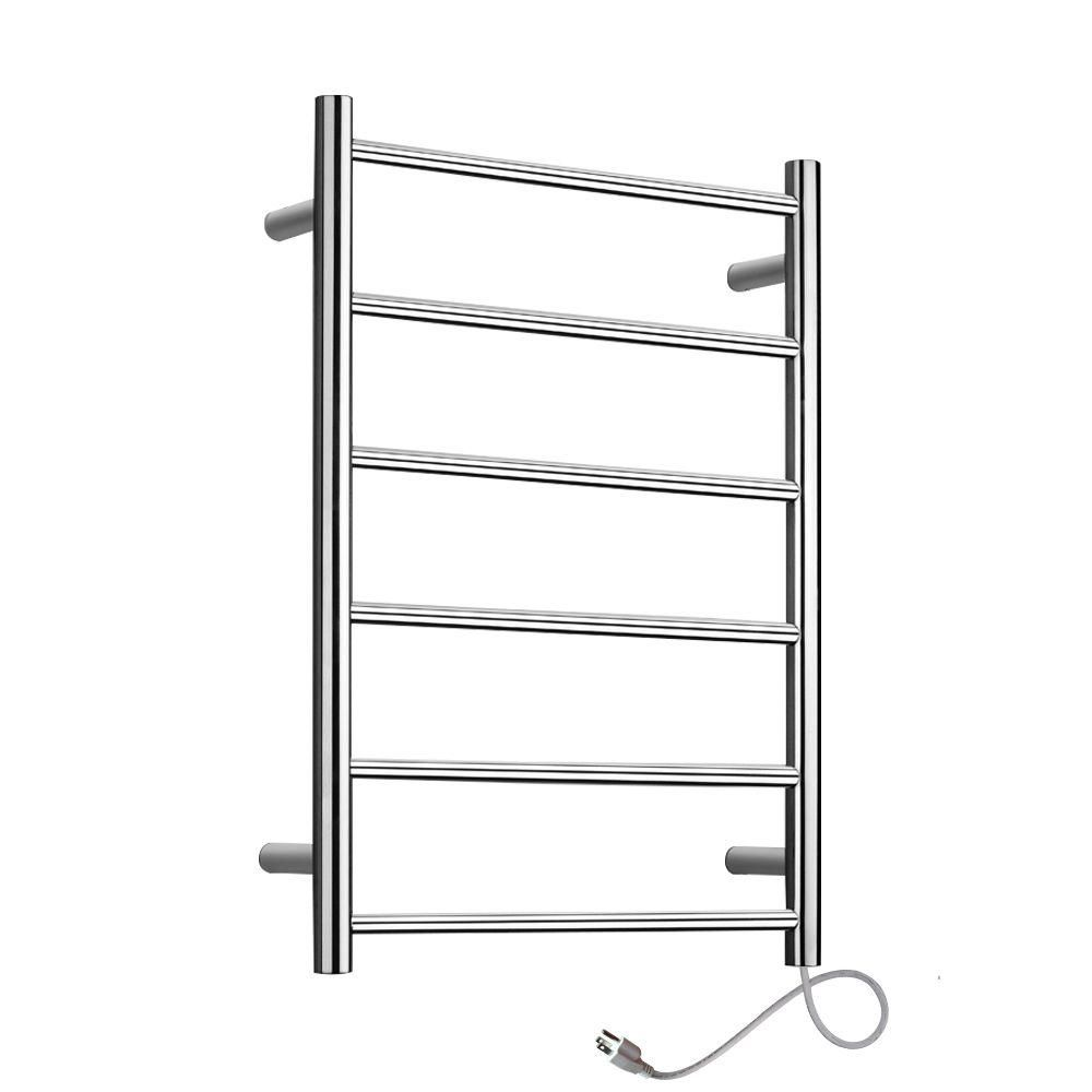 Towel Warmer Studio Plug-in 6-Bar Polished - Home Depot Exclusive