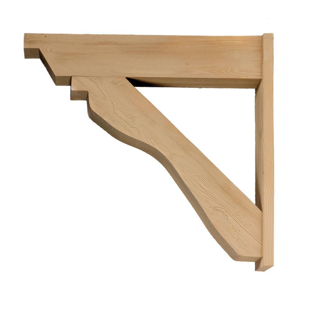 32 1/4-inch x 30 5/8-inch x 5 1/4-inch Trellis Outlooker Wood Grain Texture Polyurethane Rafter T...