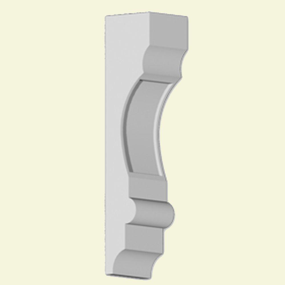 Console en polyuréthane apprêté 4 po x 4 po x 18 po