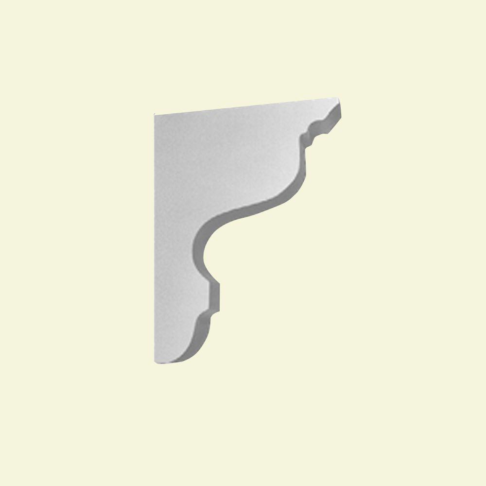 Console en polyuréthane apprêté 6 po x 1-1/2 po x 8 po
