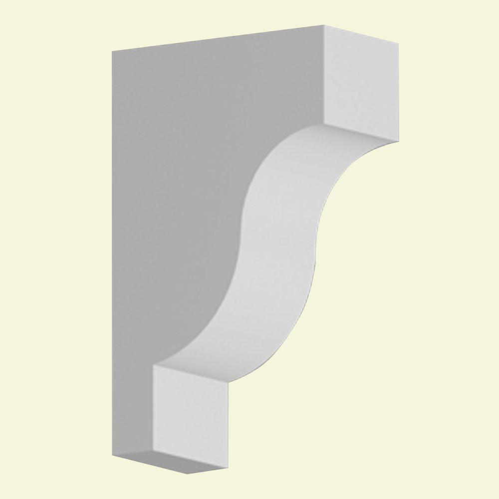 Console en polyuréthane apprêté 7 po x 3-1/2 po x 11 po