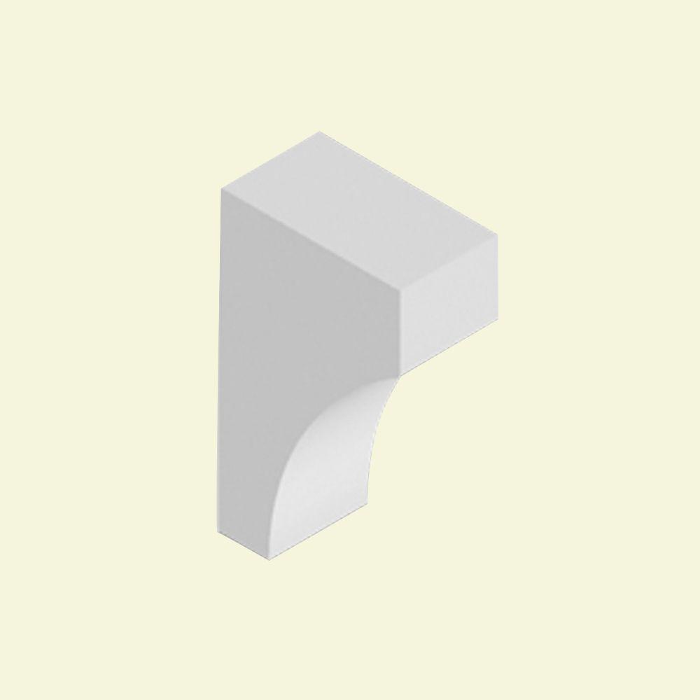Console en polyuréthane apprêté 7-1/4 po x 4 po x 12 po