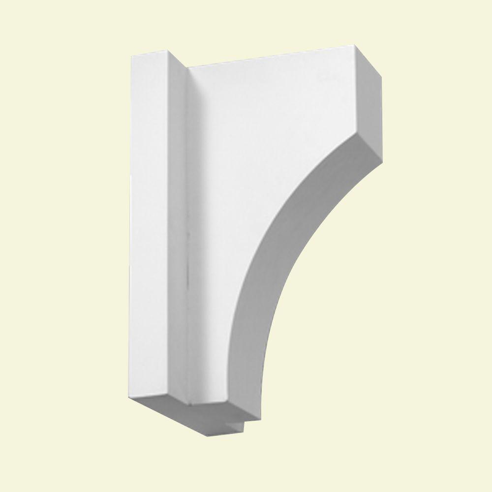 Console en polyuréthane apprêté 8 po x 7-1/4 po x 13 po