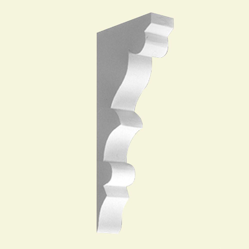 Console en polyuréthane apprêté 7-7/8 po x 2-1/2 po x 17-5/8 po