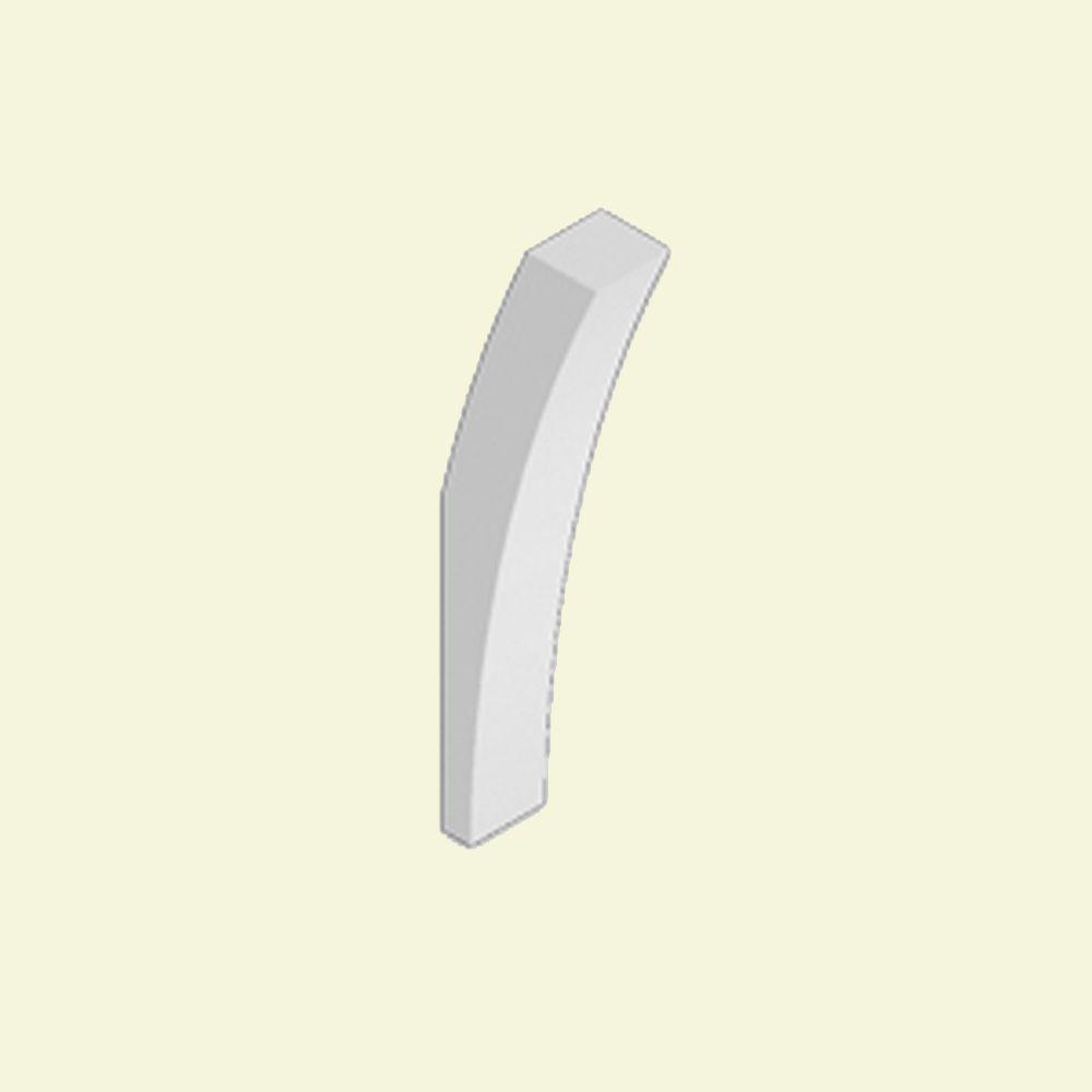 Console en polyuréthane apprêté 8-1/4 po x 4 po x 29 po