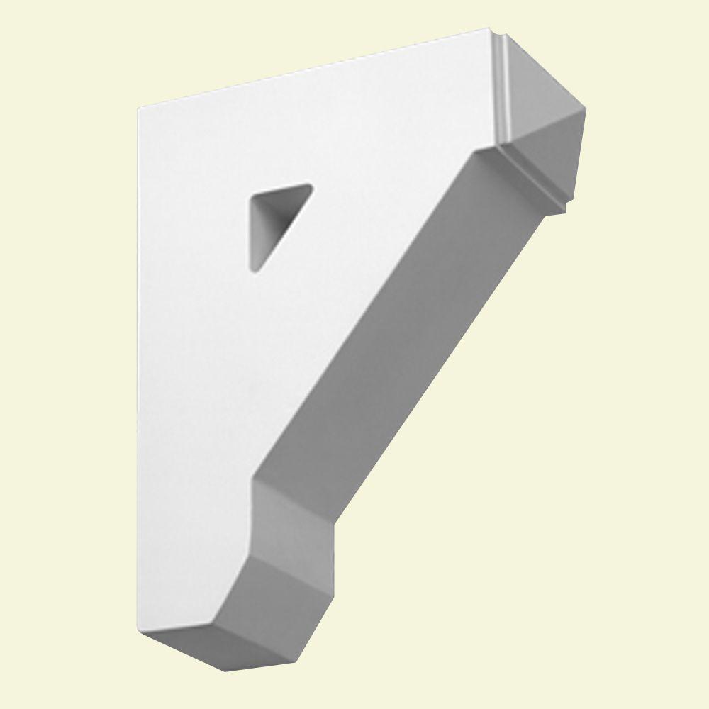 Console en polyuréthane apprêté 9 po x 3-1/2 po x 11 po