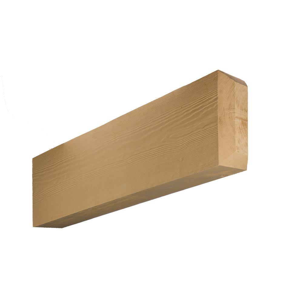 Extrémité de chevron chanfreiné en polyuréthane à texture de grain de bois non fini 5-13/32 po x ...