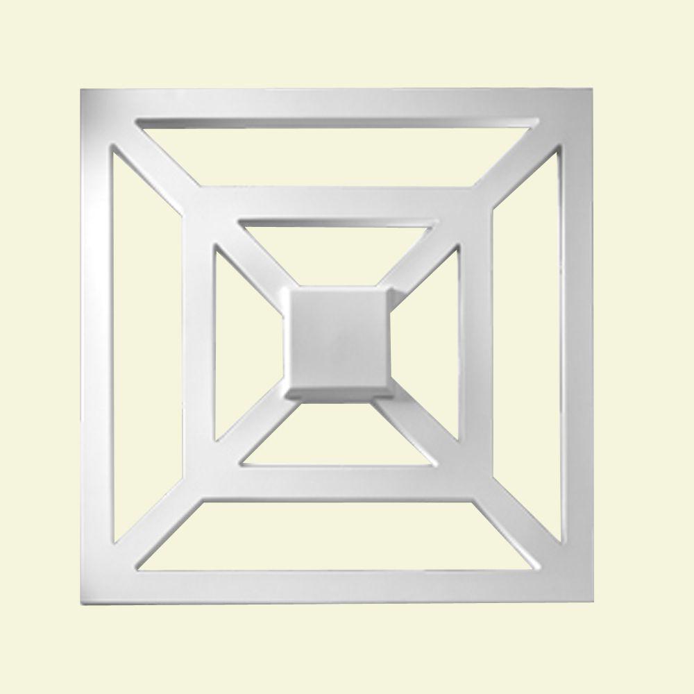 Panneau décoratif carré en polyuréthane apprêté 28 po x 1-5/16 po x 28 po