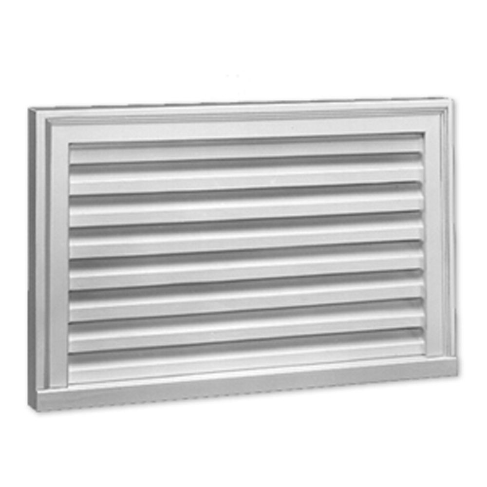 27-inch x 17-inch x 2-inch Polyurethane Functional Vertical Louver Gable Grill Vent