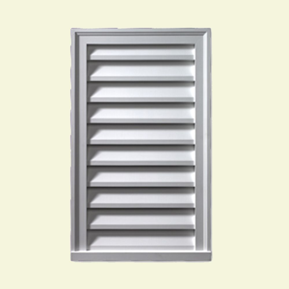 12-inch x 24-inch x 2-inch Polyurethane Functional Vertical Louver Gable Grill Vent