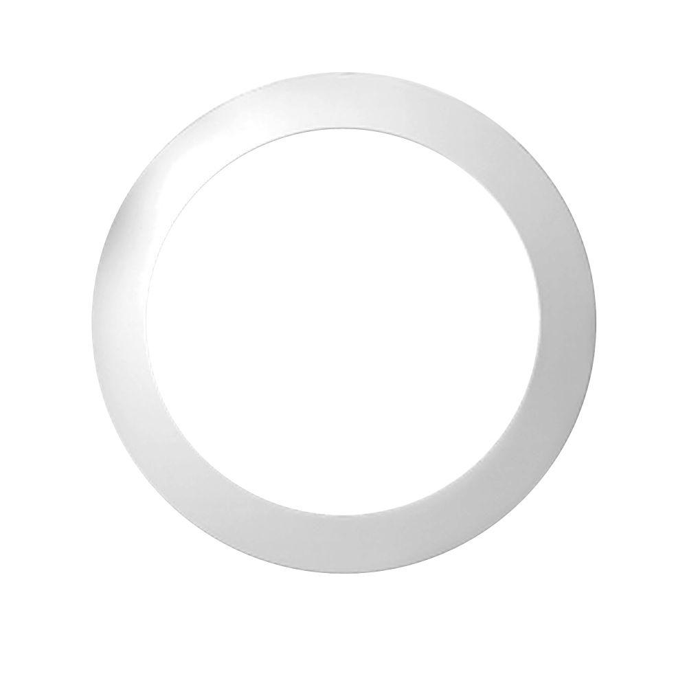 25 3/16-inch x 25 3/16-inch x 1-inch Polyurethane Decorative Trim Round Louver Gable Grill Vent