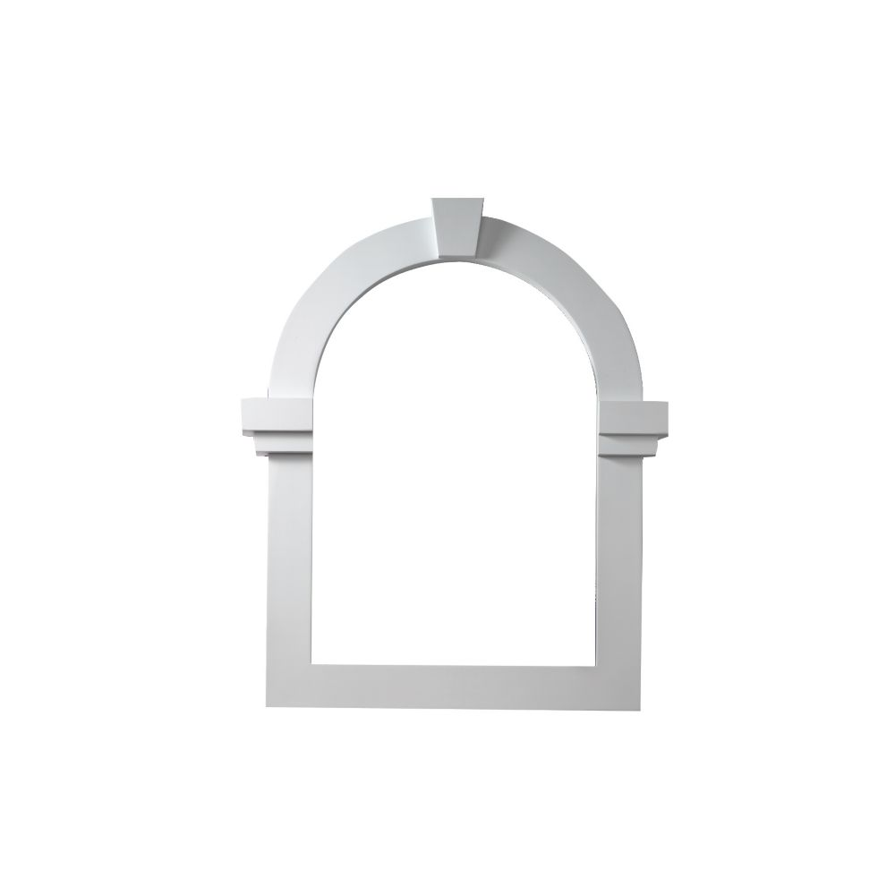 22 3/16-inch x 39 11/16-inch x 2 1/4-inch Polyurethane Decorative Cathedral Louver Gable Grill Ve...