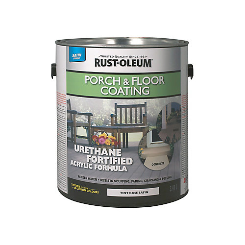 Porch & Floor Coating Satin Tint Base, 3.43 L