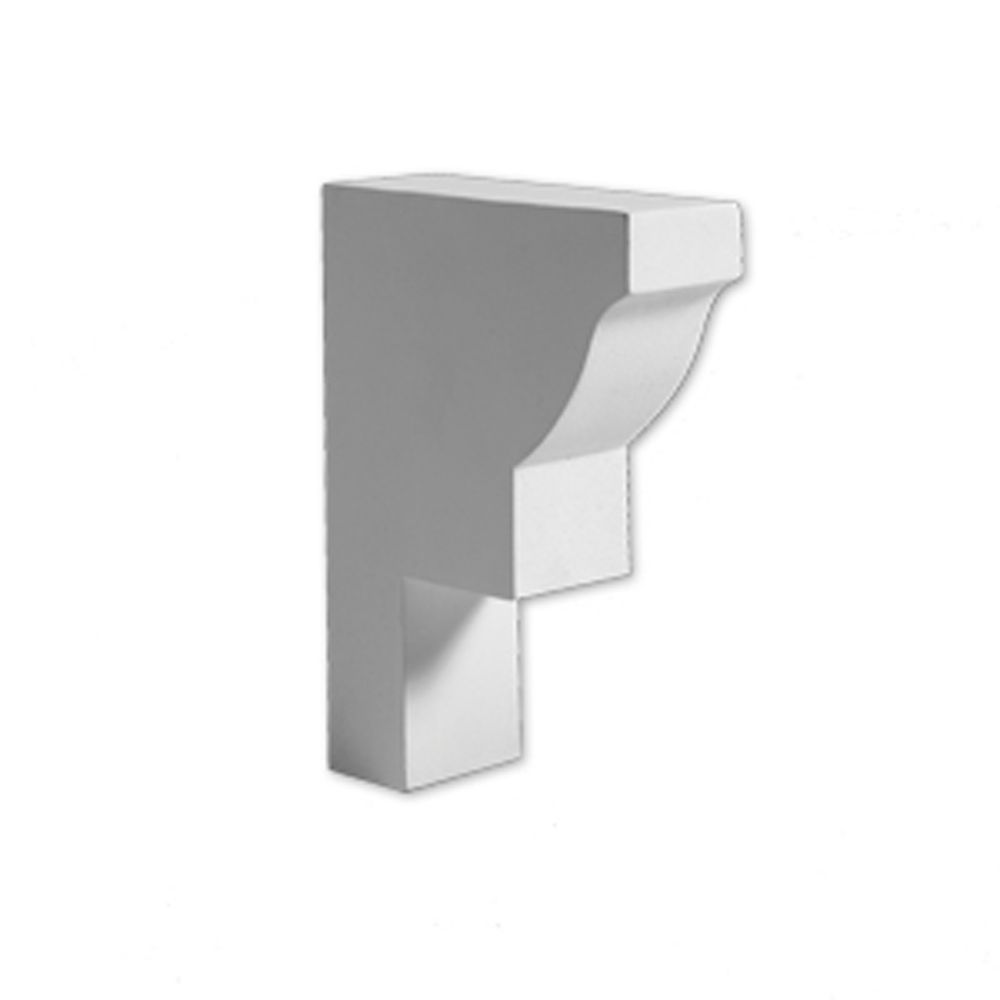 4 11/16-inch x 1 3/4-inch x 6 5/16-inch E-Vent Block Dentil Smooth