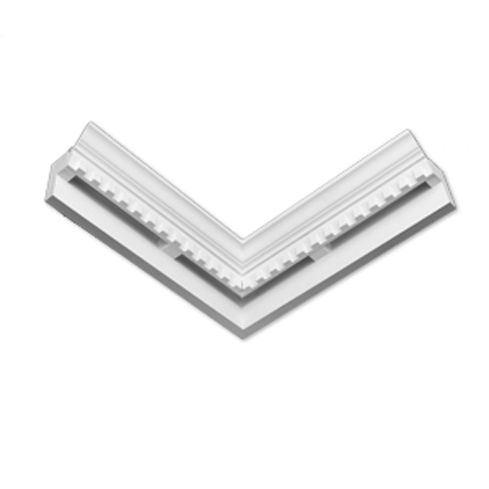 4 7/16-inch x 14-inch x 6 3/16-inch E-Vent Inside Corner Dentil Smooth