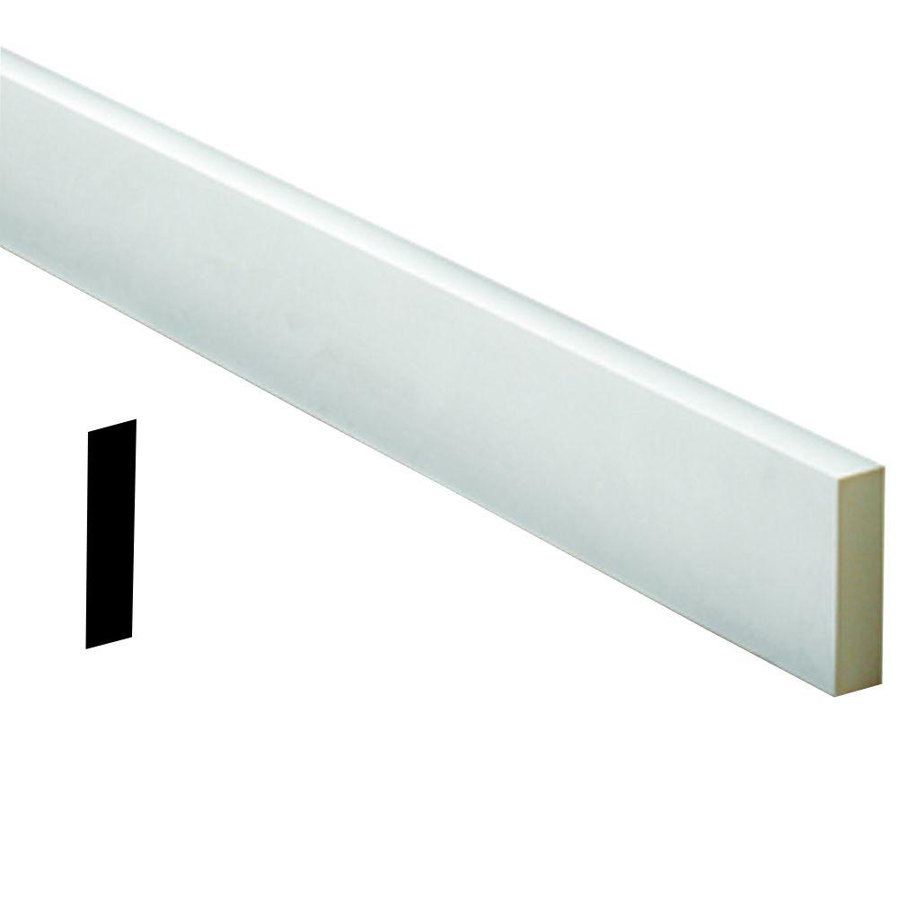 3/4 Inch x 2-1/8 Inch x 96 Inch Primed Polyurethane Flat Trim Moulding