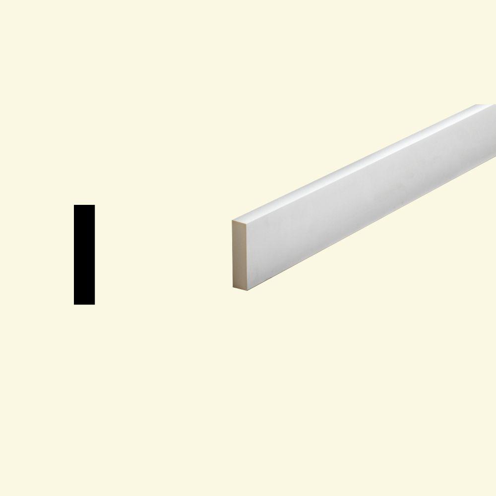 1 Inch x 3-1/2 Inch x 96 Inch Primed Polyurethane Window or Door Flat Trim