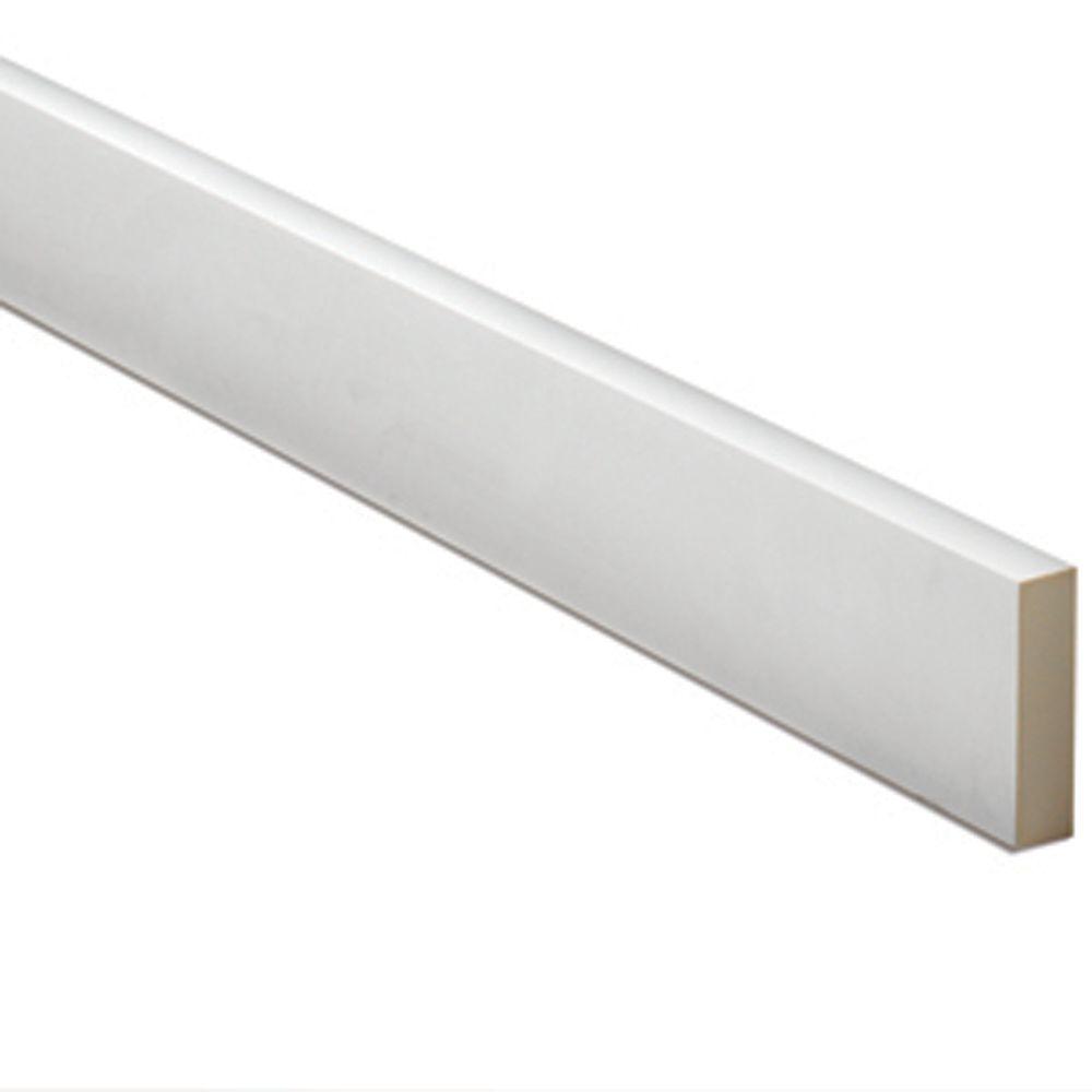 1-inch x 7 1/2-inch x 96-inch Primed Polyurethane Window or Door Flat Trim