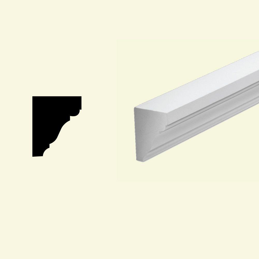 Moulure de corniche en polyuréthane apprêté 3-1/4 po x 4 po x 96 po