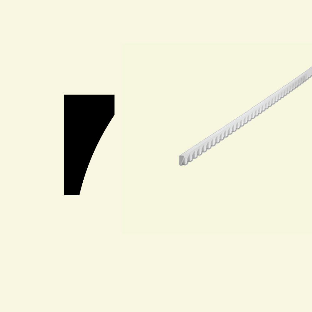 Moulure à bordure plate en polyuréthane apprêté 5/8 po x 1-1/4 po x 60 po