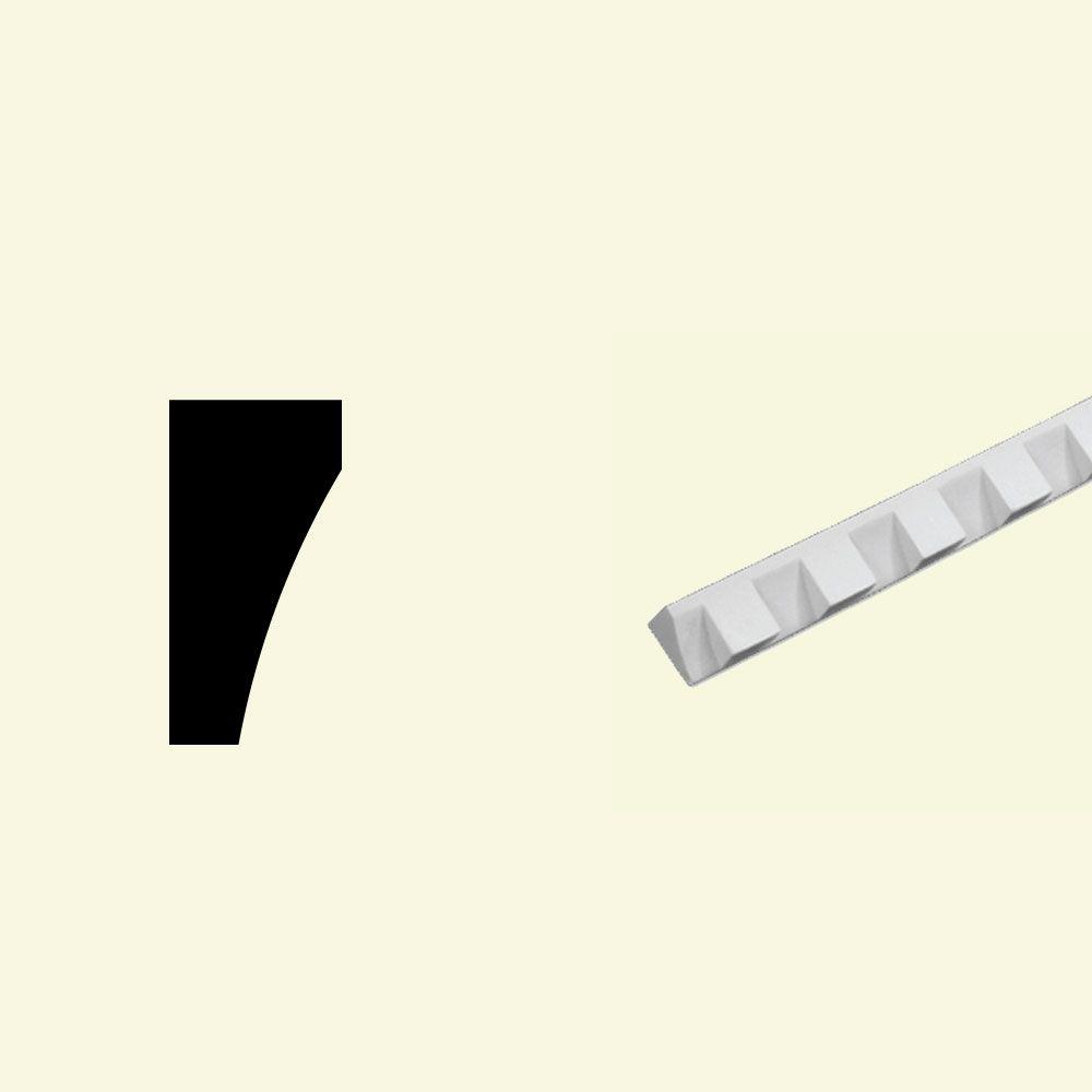 Moulure à bordure plate en polyuréthane apprêté 5/8 po x 1-1/4 po x 96 po