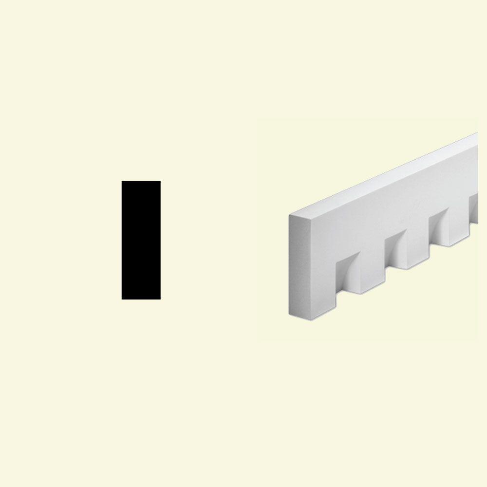 1 5/8-inch x 5 3/4-inch x 96-inch Primed Polyurethane Dentil Trim Moulding