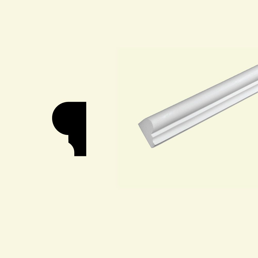 Moulure à cimaise de protection en polyuréthane apprêté 1-1/2 po x 2-3/8 po x 96 po