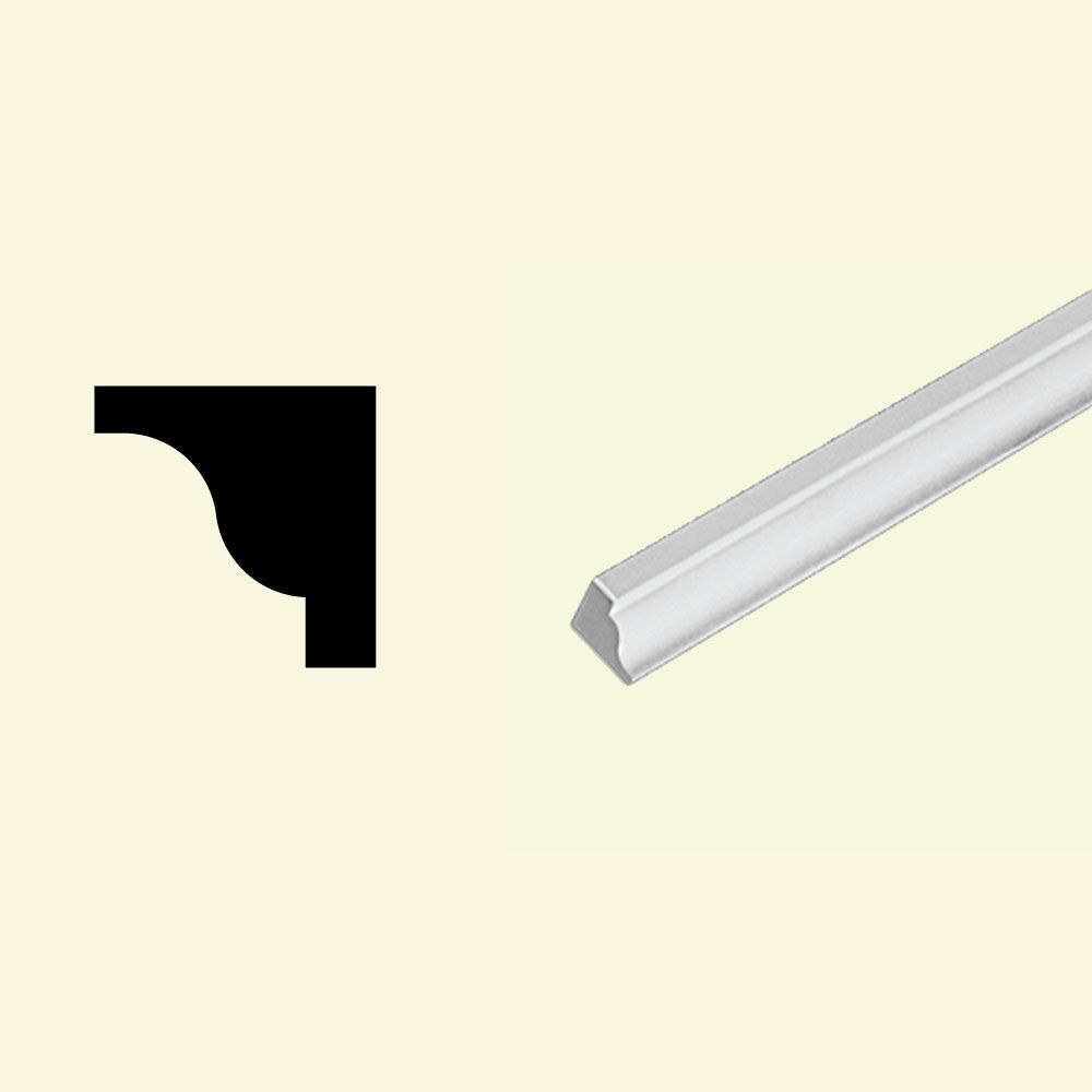 3/4 Inch x 3/4 Inch x 96 Inch Primed Polyurethane Ogee Moulding