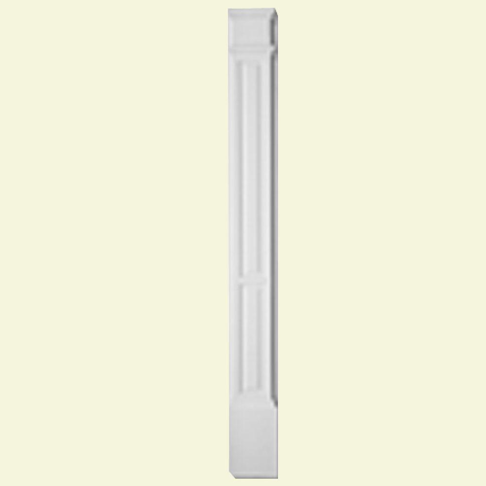 Pilastre à deux panneaux avec plinthe moulée en polyuréthane apprêté 1-5/8 po x 5-1/4 po x 90 po
