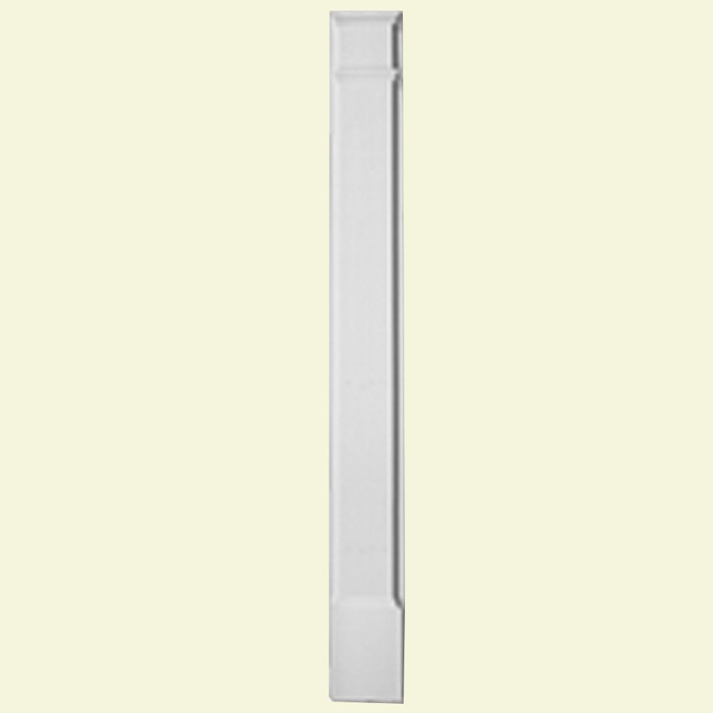 1 5/8-inch x 6 1/4-inch x 90-inch Primed Polyurethane Pilaster Plain with Molded Plinth