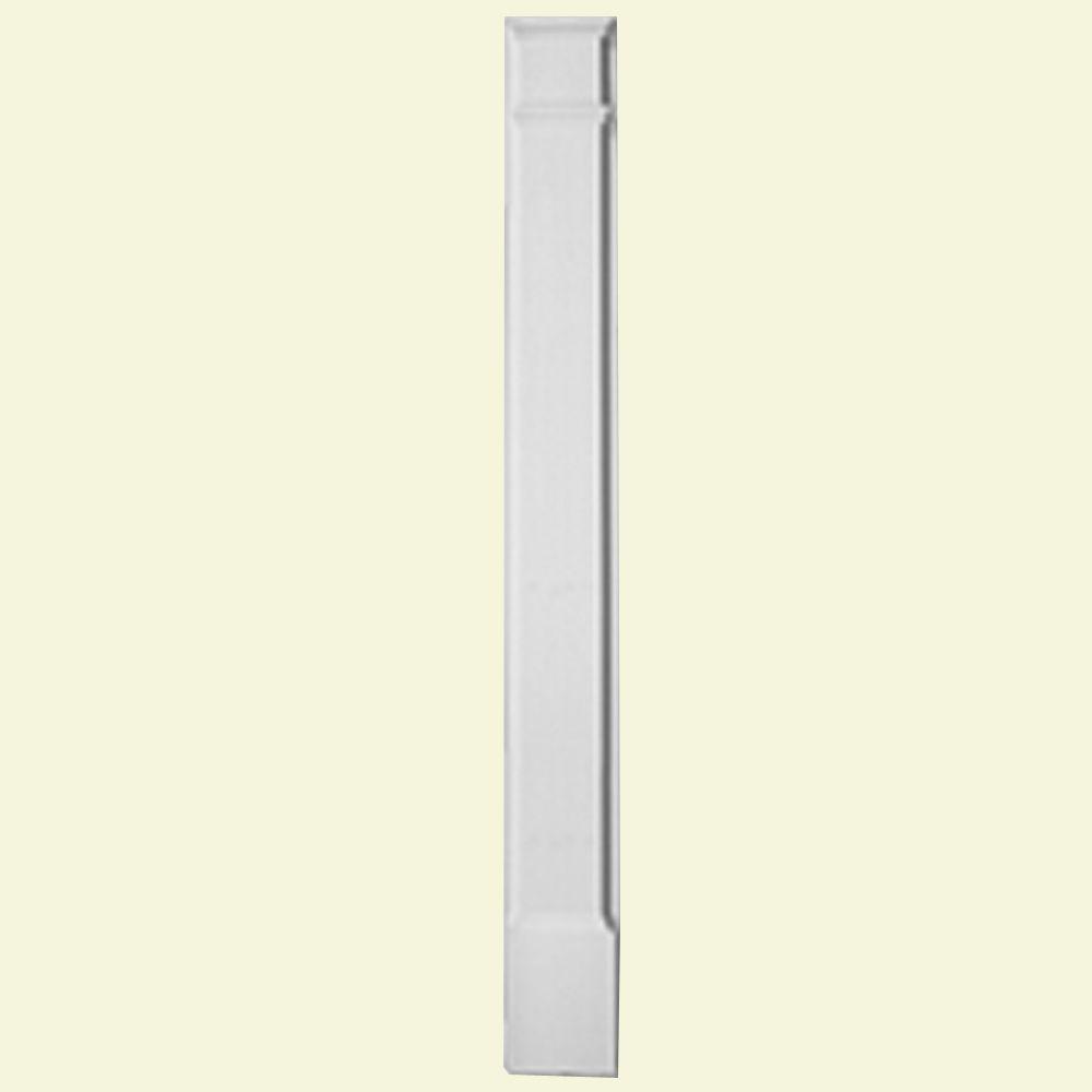 Pilastre standard avec plinthe moulée en polyuréthane apprêté 2-1/2 po x 8 po x 90 po